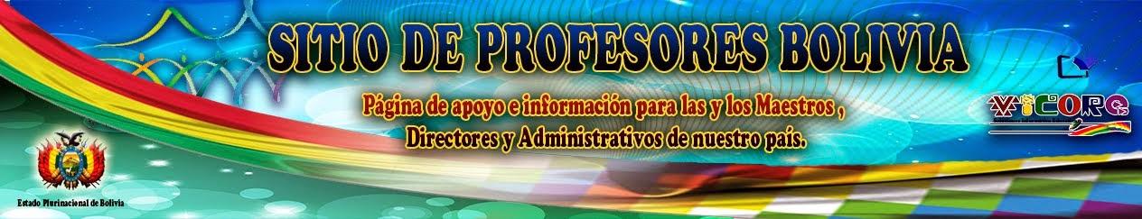 SITIO DE PROFESORES  BOLIVIA