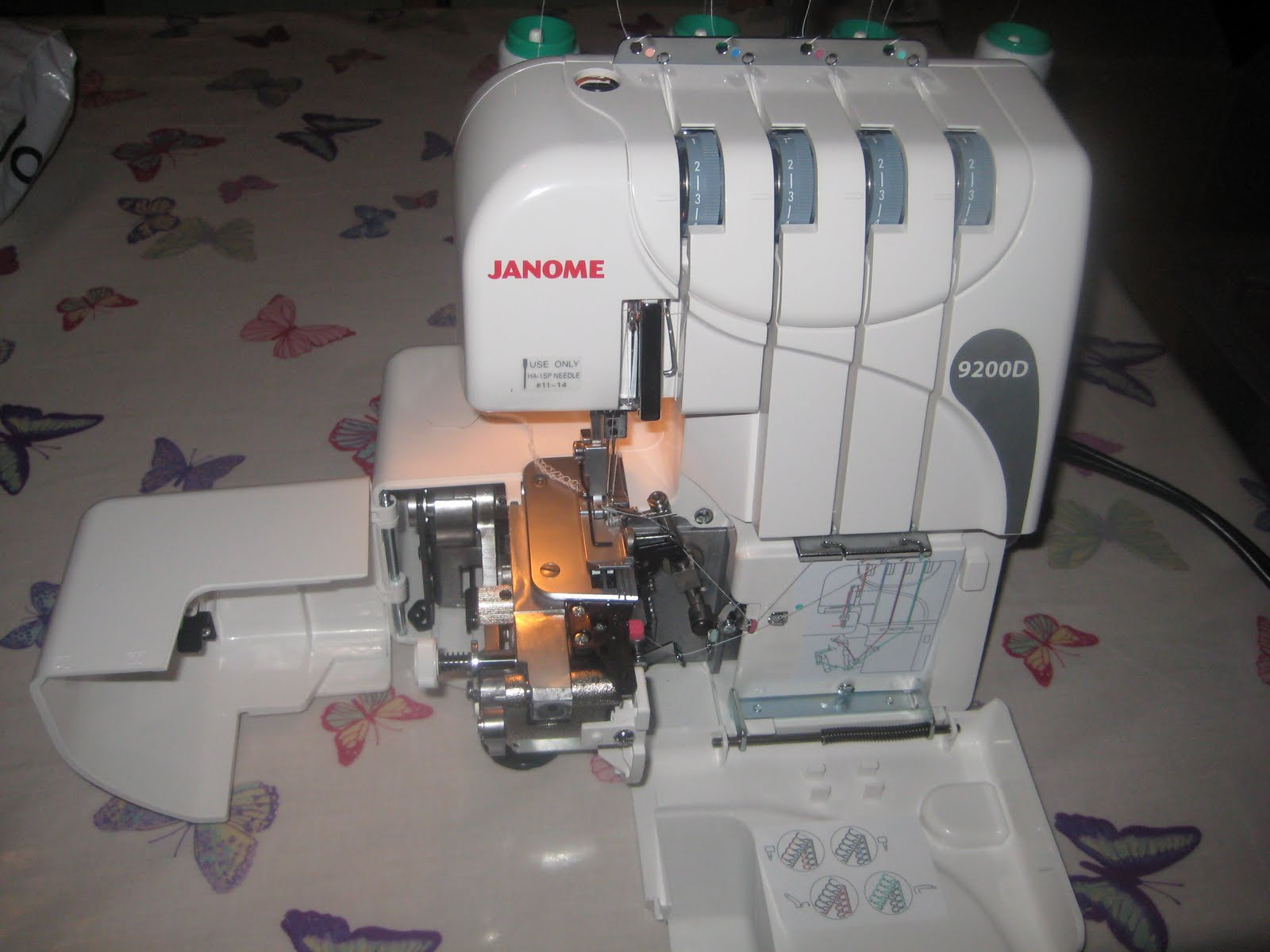 kitchen table sewing my new toy thank you mum