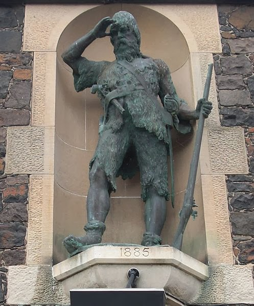 Statue of Alexander Selkirk on Main Street, Fife