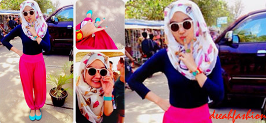 Trend Jilbab Shocking Color 2014