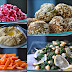 Orientalische Gemüseplatte mit Falafel und Hummus