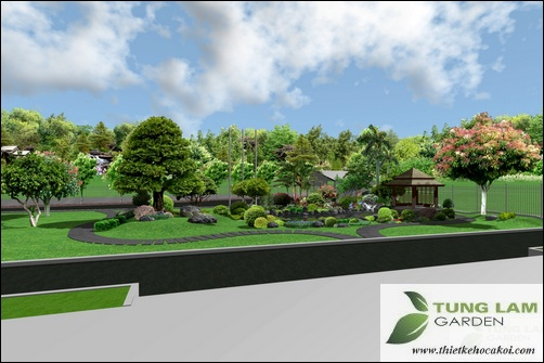 TungLam Garden thiết kế hồ cá Koi