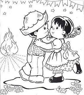 desenhos de festa junina para imprimir colorir mundo social