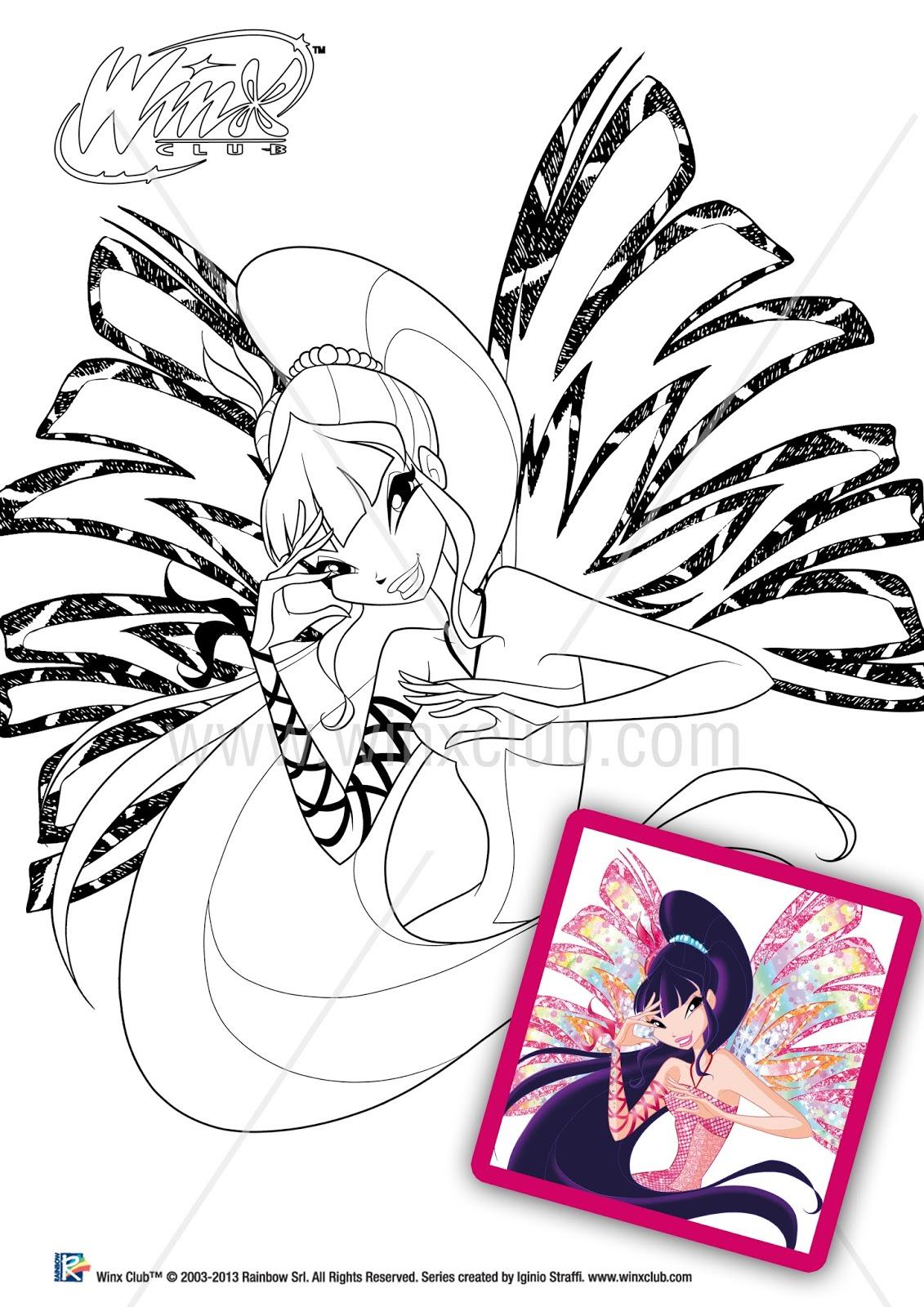 Winx Sirenix Imagens Para Colorir Winx Club Episódios