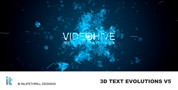 VideoHive TextEvolutions V5 - Water