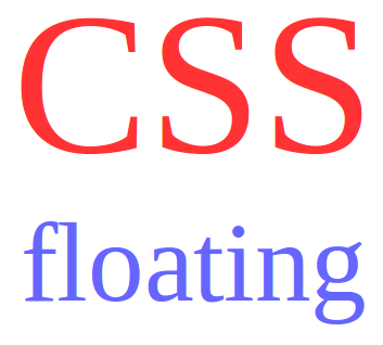 css floating elemen