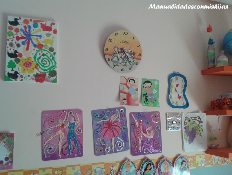 Manualidades con mis hijas mi rcoles mudo la pared de la habitaci n - Manualidades para la habitacion ...