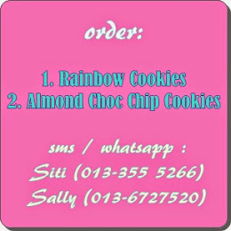 Rainbow Cookies @ Almond Choc Chip Cookies