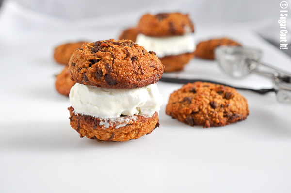 Paleo Chocolate Chip Ice Cream Cookiewich