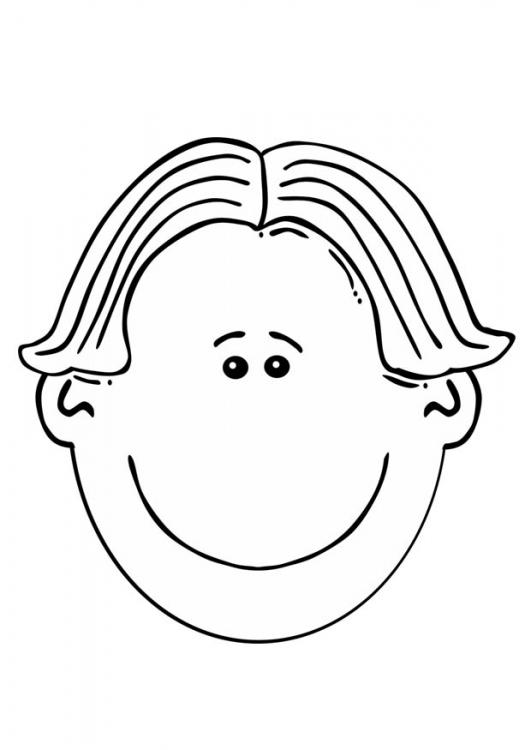 Caras de niño para pintar - Imagui