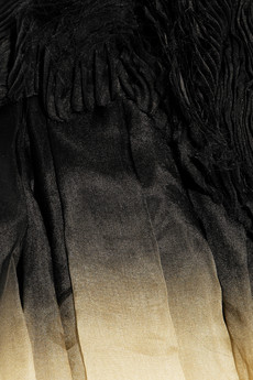 Dégradé silk-organza off-the-shoulder gown by Alexander McQueen