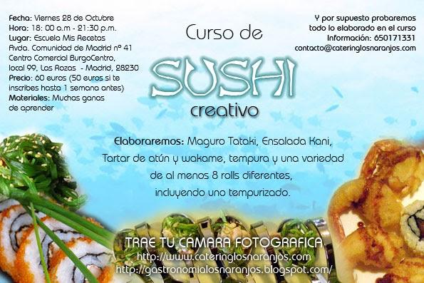 Gastronom a los naranjos curso de sushi creativo para - Curso de cocina madrid principiantes ...