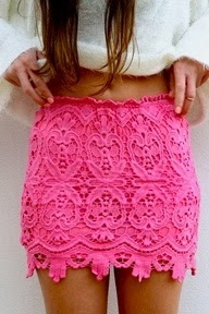 Pinky perfect skirt