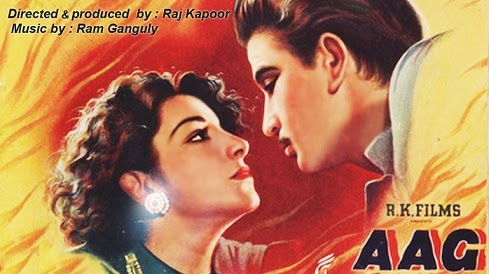 Poster Of Bollywood Movie Aag (1948) 100MB Compressed Small Size Mobile Movie Free Download worldfree4u.com