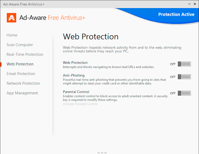 Ad-Aware Free Antivirus+ 11.0 - Web Protection
