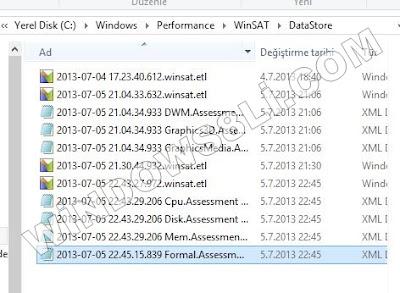 Windows 8.1 Deneyim Dizini Puanlarını Öğrenme