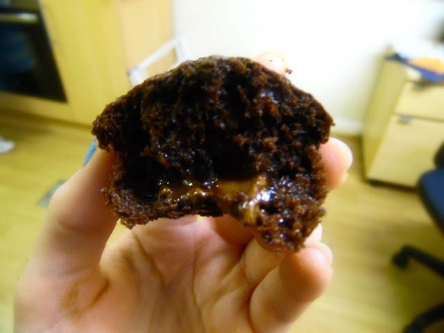 gooey caramel centre rolo cupcakes