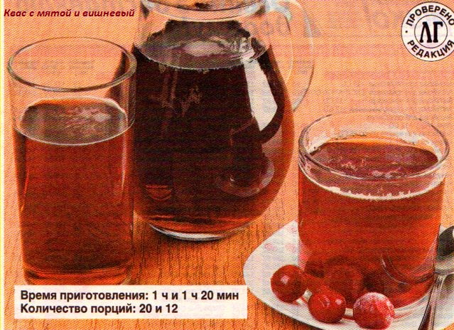 Рецепт квас из мяты