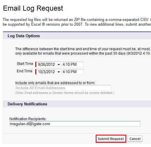 how to find email to salesforce address
