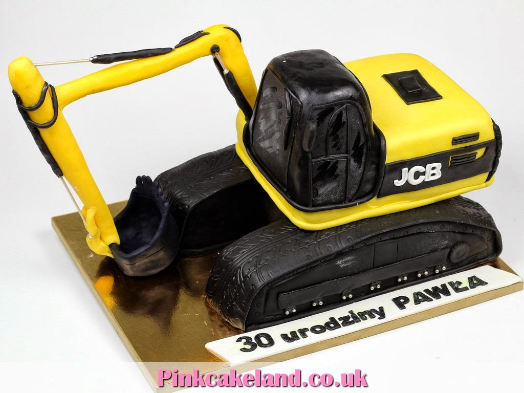 JCB Excavator Birthday Cake, London