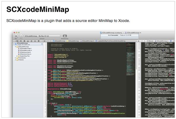 Xcodeエディタにsublime textのようなミニマップ表示を追加するプラグイン   Cocoaの日々情報局