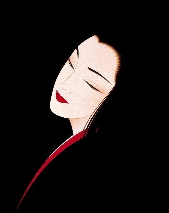 Doctor Ojiplático.Ichiro Tsuruta カレンダー. Bijin-ga (美人画). Ilustración | Illustration