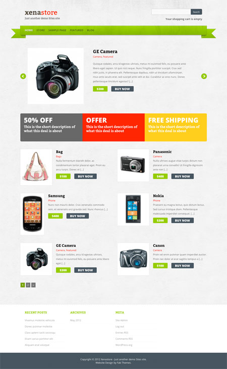 online shop free wordpress theme 30 Ücretli Ücretsiz WordPress Teması