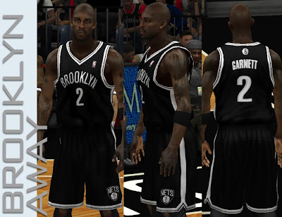 NBA 2K13 Brooklyn Nets Away Jersey Patch