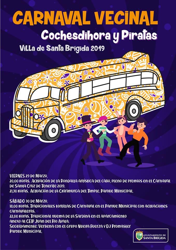 Carnaval en Santa Brígida :Los actos del Sabado 30 estan trasladados al viernes 5 de Abril