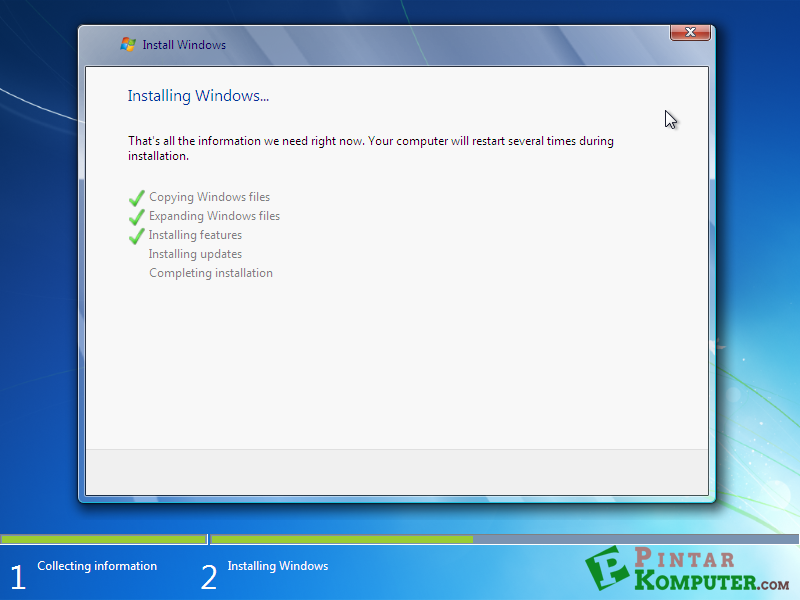 proses installing features