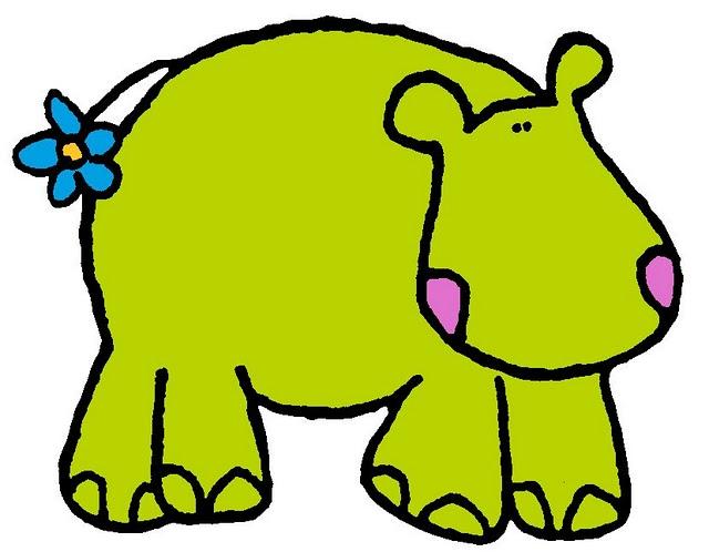 imagen de hipopotamo para imprimir dibujos de caricaturas de animales