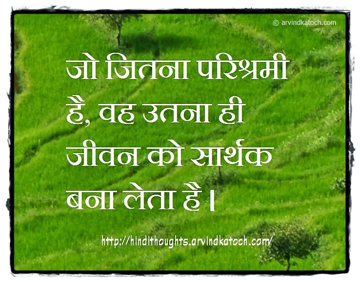 Meaning Life, Industrious, Hindi, Thought, Quote,