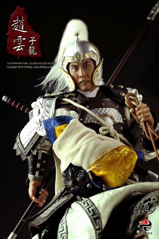 """โมเดลจูล่งฝ่าทัพรับอาเต๊า """"303 Toys Three Kingdoms Series Zhao Yun (Zilong) Set"""""""