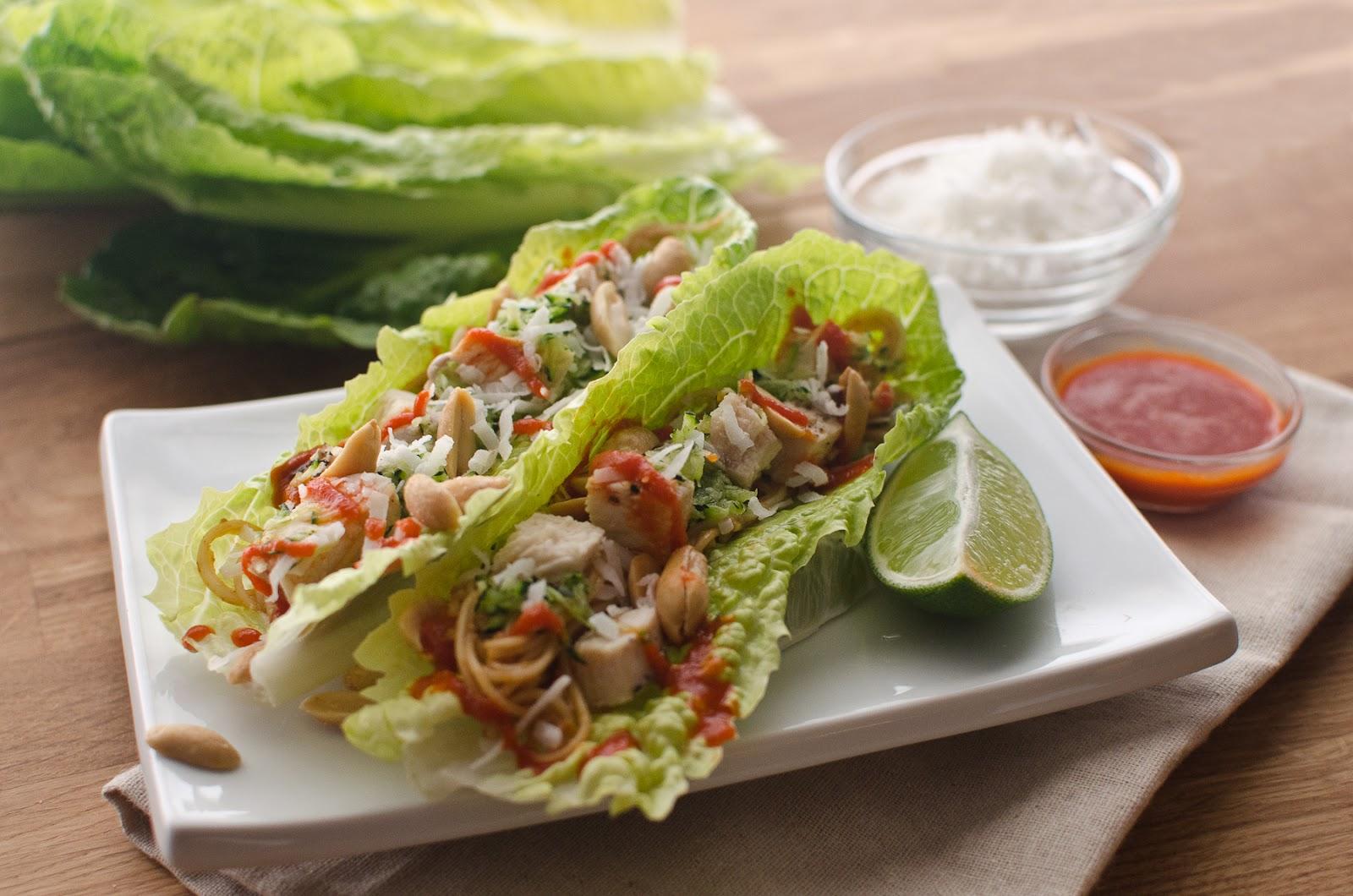 Crunchy Thai Lettuce Wraps