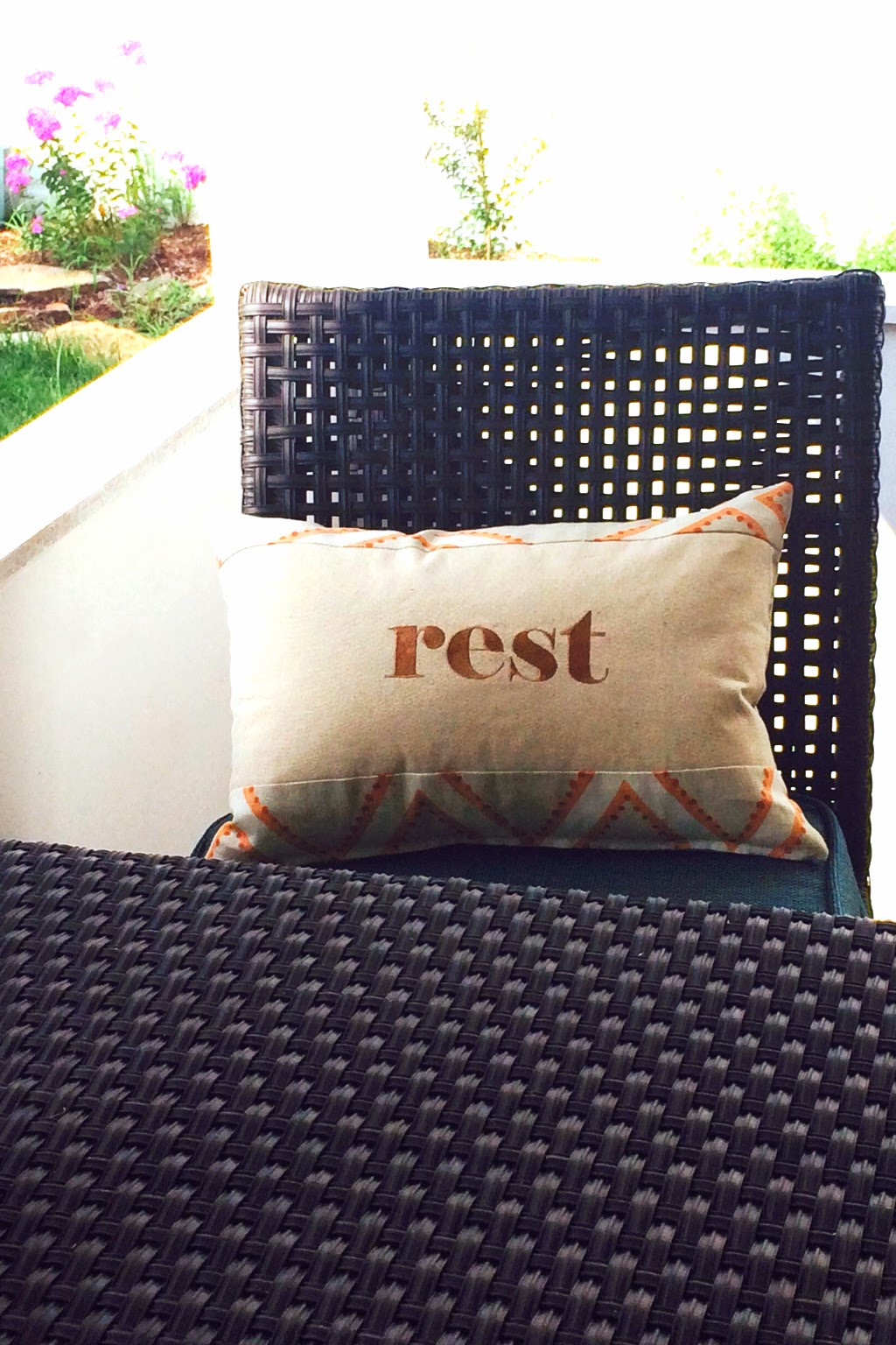 Rest Porch Message Pillow | Belinda Lee Designs | Personalized Pillows | Unify Mismatched Furniture