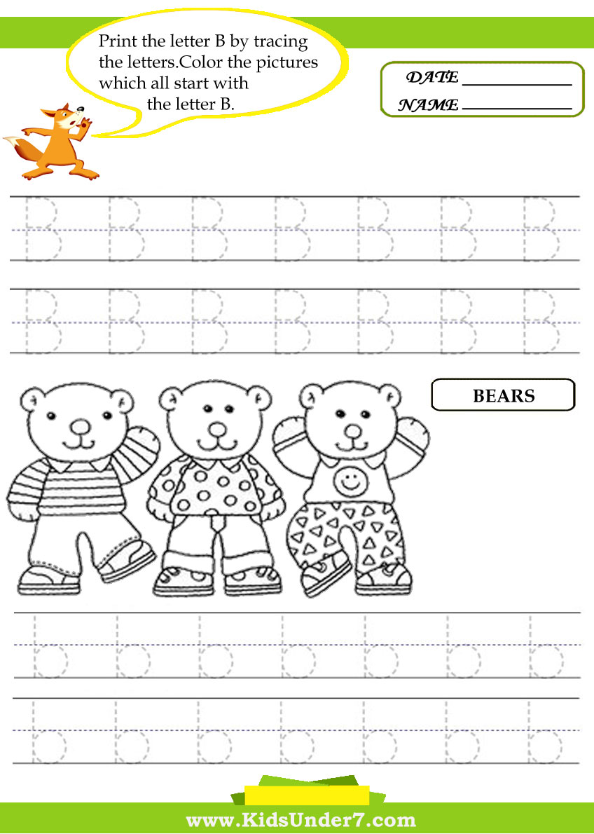 Sound Handwriting Alphabet: Letter B Handwriting Worksheet ...