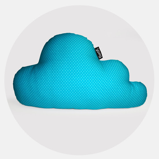 Blue dots Cloud Pillow by BERTH handmade