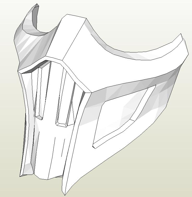 Как сделать из бумаги маски мортал комбат