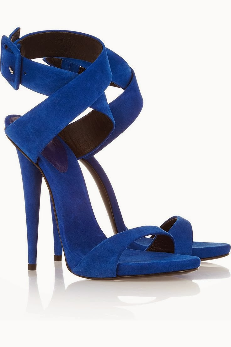 Blue Heel With Buckle