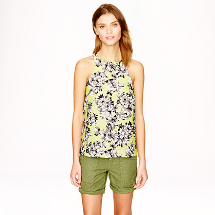 Racer Tank in Photo Floral