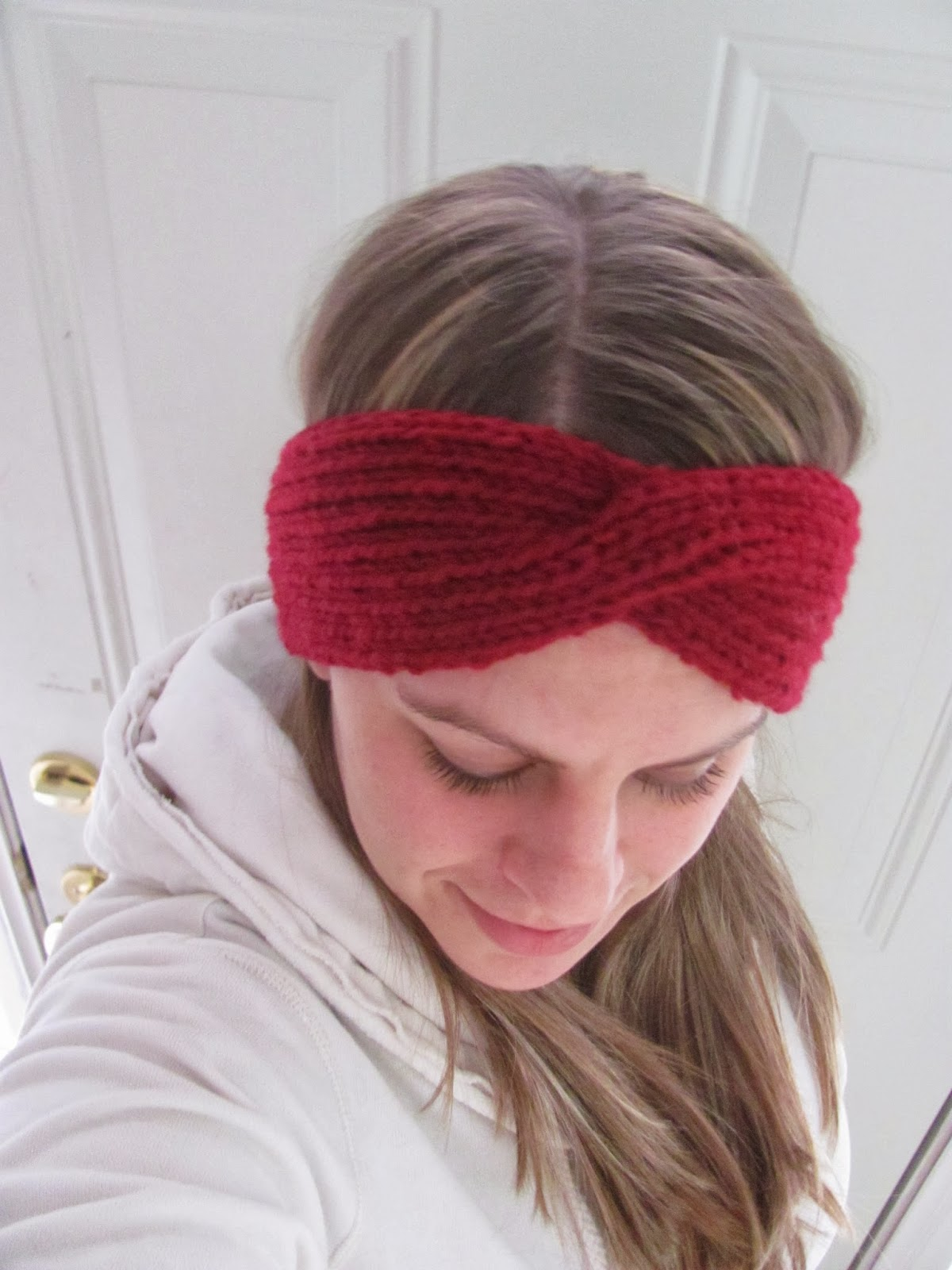 Twenty Something Granny Winter Headband With A Twist Knit
