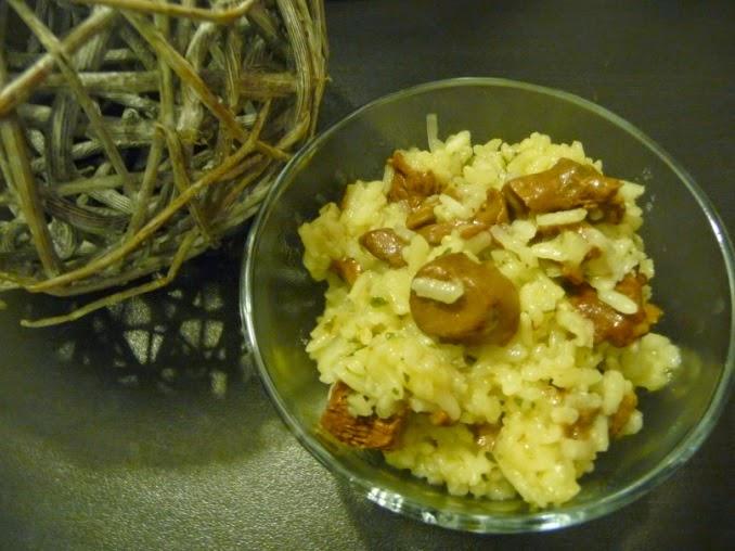Papilles on off risotto aux girolles au thermomix ou sans - Quelle quantite de riz par personne ...