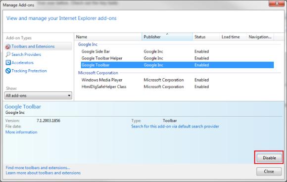 Gỡ bỏ Toolbar trình duyệt trong Internet Explorer