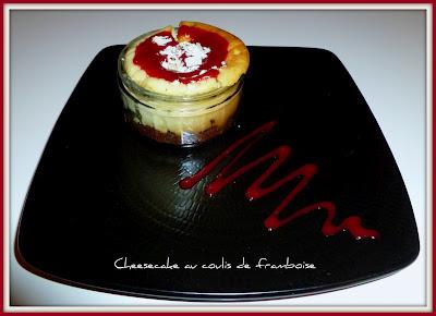 image Cheesecake au coulis de framboise