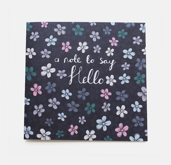 flowers hello card