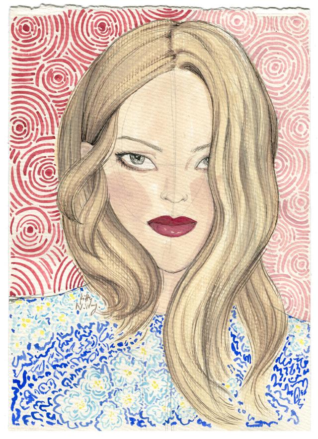 Kitty N. Wong / Sketchbook Girls. Chloe Painting