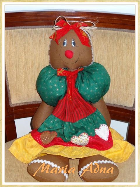 Boneca Ginger, Bonecas, Decoração de Natal