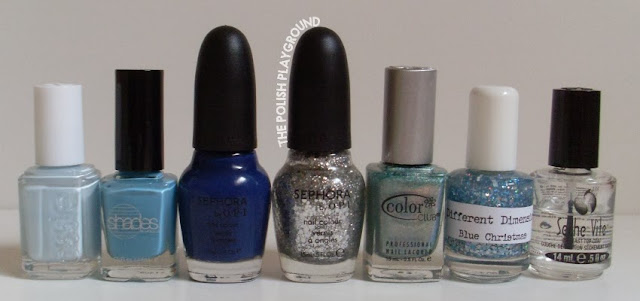 Essie, Barielle, Sephora by OPI, Color Club, Different Dimension, Seche Vite