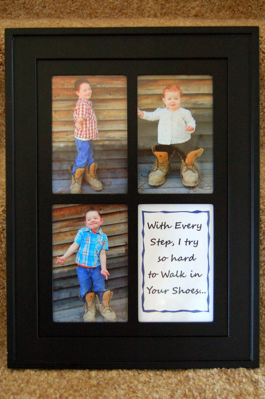 Add Photo Dad Gift from Son Filling Daddys Shoes