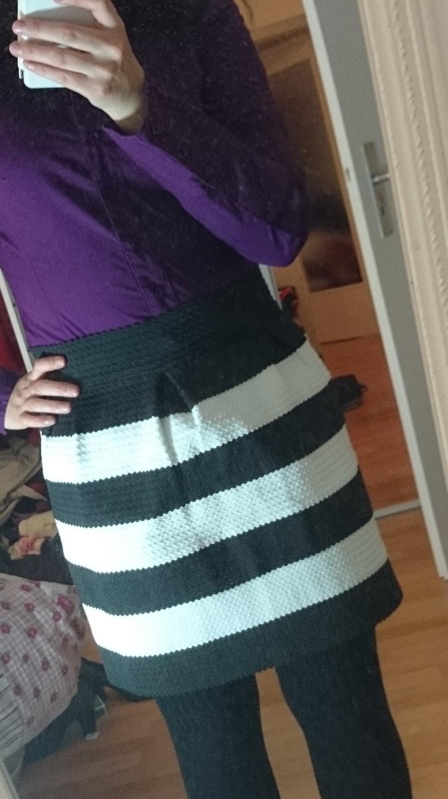 Outfit Streifenrock kombinieren